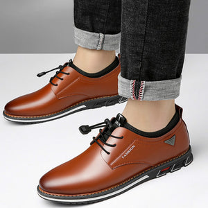 Lucklucy Men Fashion Leather Moccasins Driving Shoes