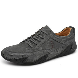 New Men's Suede Leather Flat Shoes