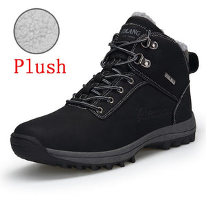 Men Winter Fashion Leather Ankle Boots