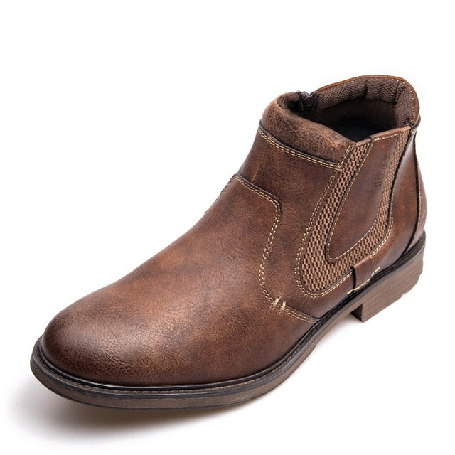 Men Autumn Winter Vintage Style Ankle Short Boots