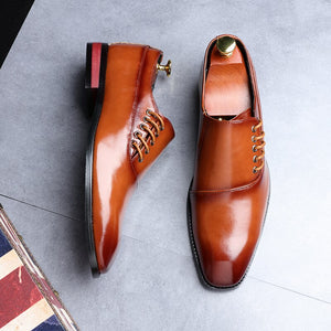 Lucklucy Men Fashion Business Dress Shoes