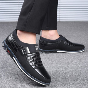 Lucklucy Men Genuine Leather Casual Driving Shoes
