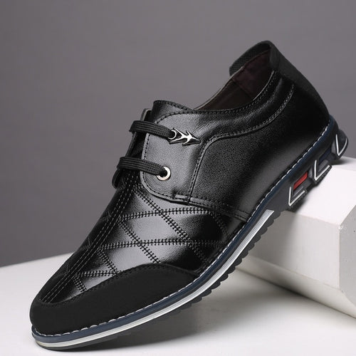 Men Fashion Splice Lace Up Buiness Shoes