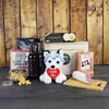 """I Woof You"" Beer & Snacks BroCrate, beer gift baskets, floral gift baskets, gourmet gift baskets, gift baskets, Valentine's Day gift baskets"