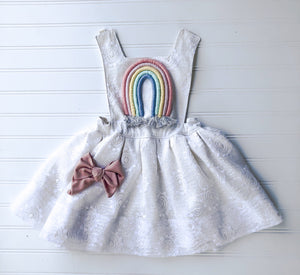 {soley} vintage lace rainbow pinafore  // made to order