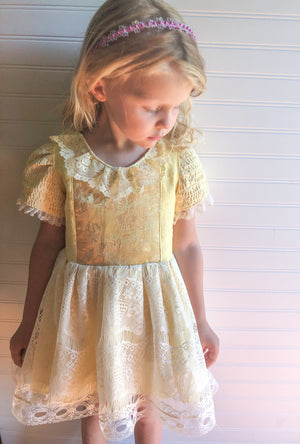 {Belle} OOAK Vintage Princess Dress // Ready to Ship // Size 4/5