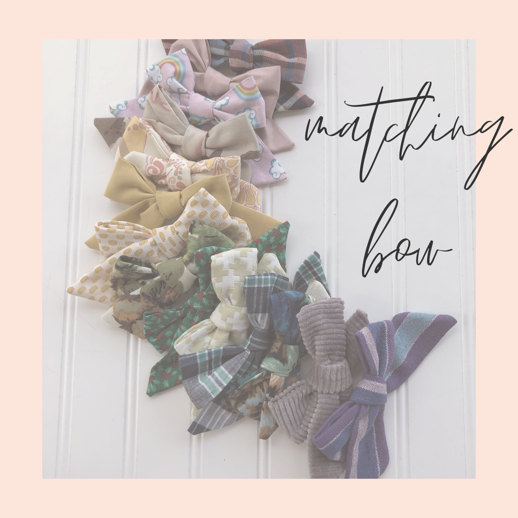 {matching bow} // made to order