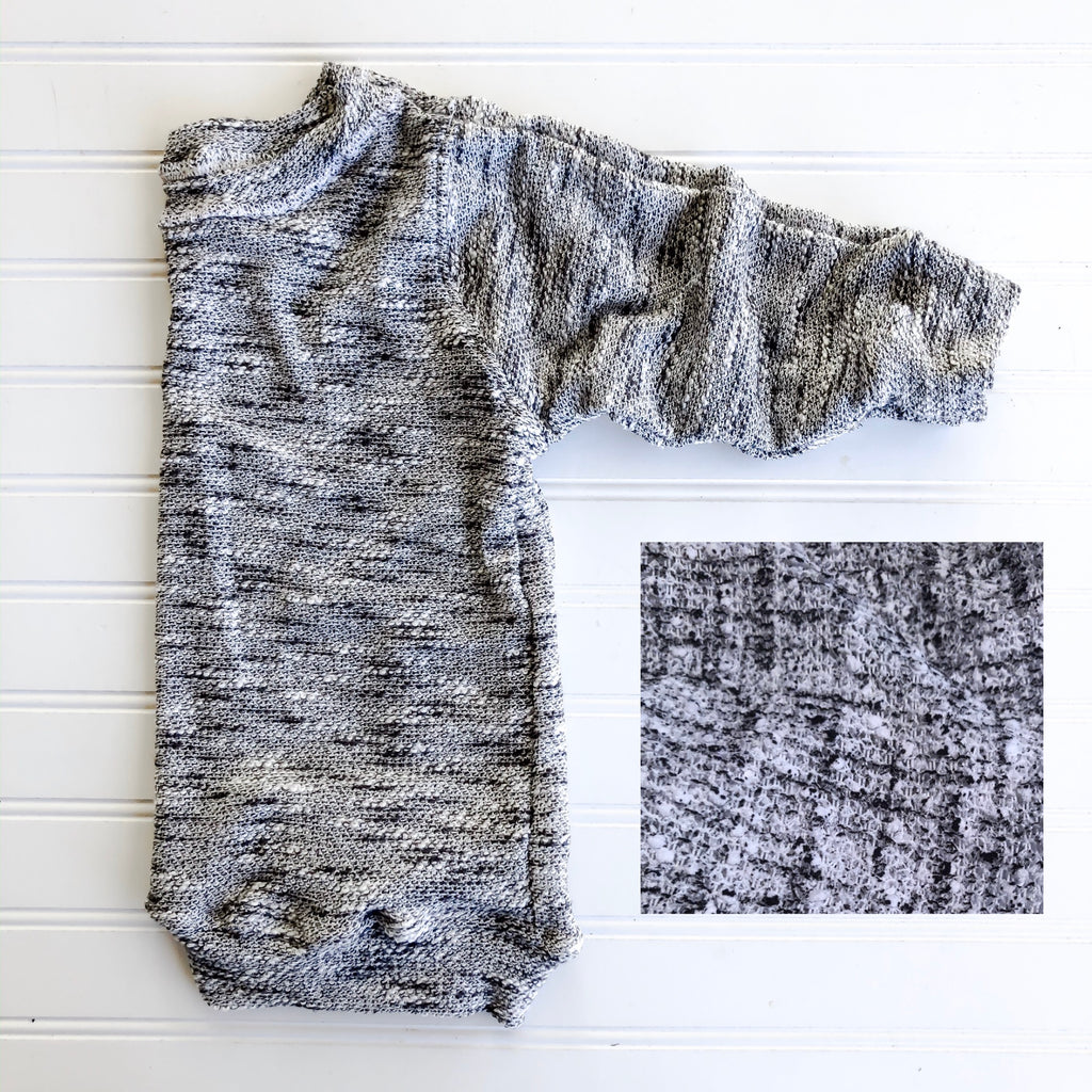 {cooper} oversized lounge top in grey marble sweater knit // made to order // 11.7.19 @ 9pm est