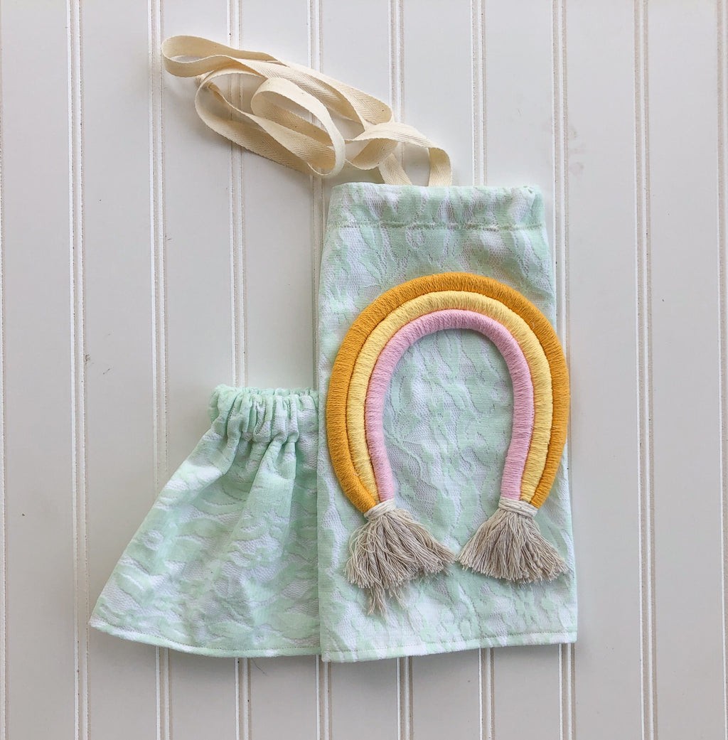 customizable rainbow lace halter [mint green lace]
