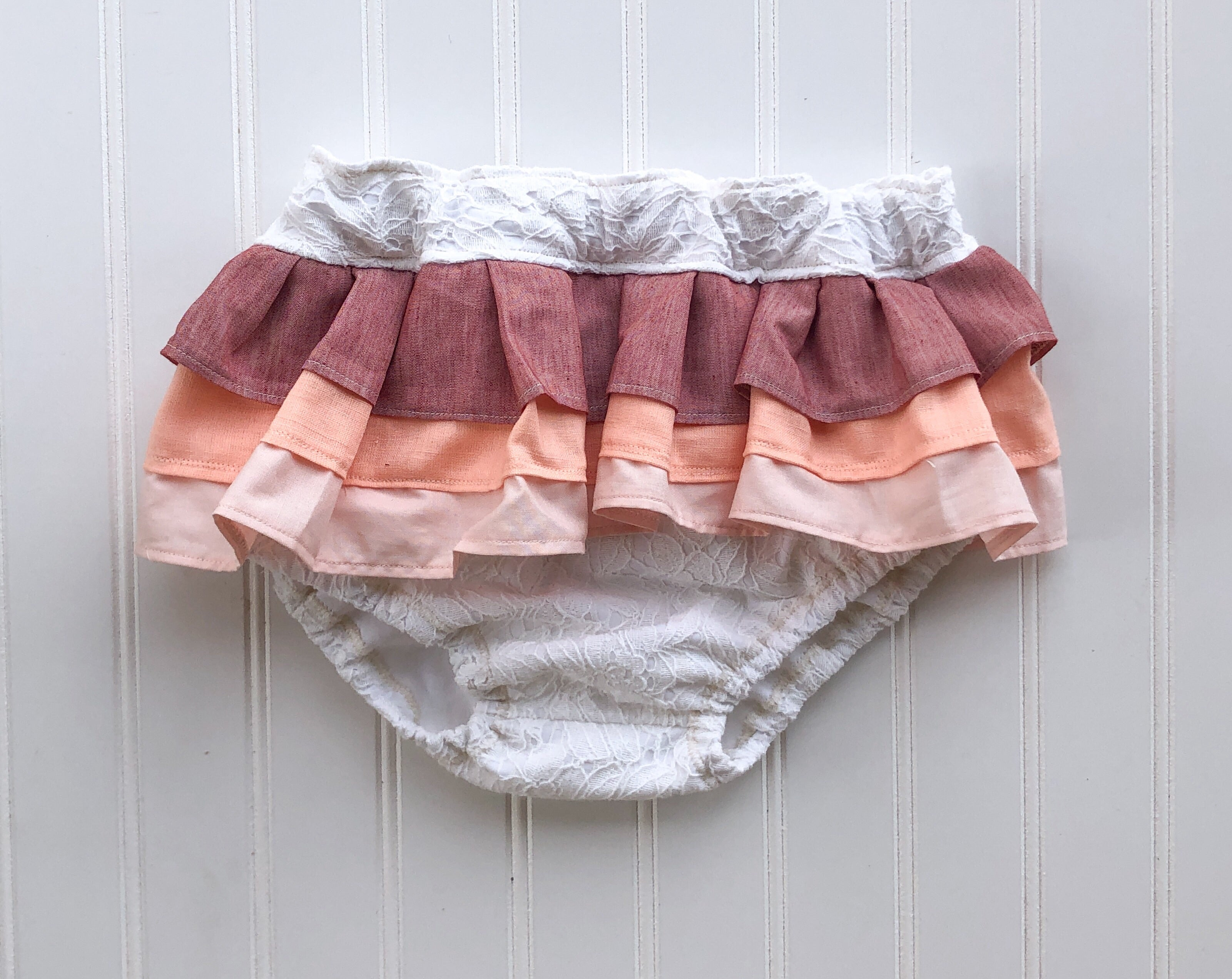 lace rainbow ruffle bloomers