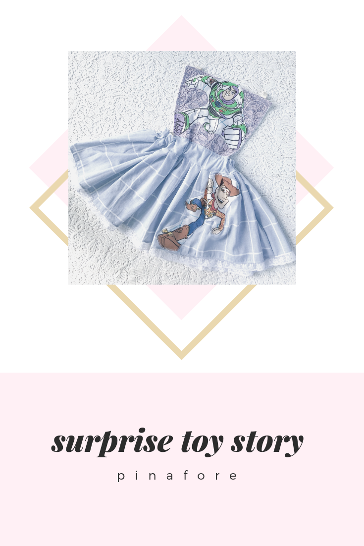 {toy story} SURPRISE pinafore // MADE TO ORDER