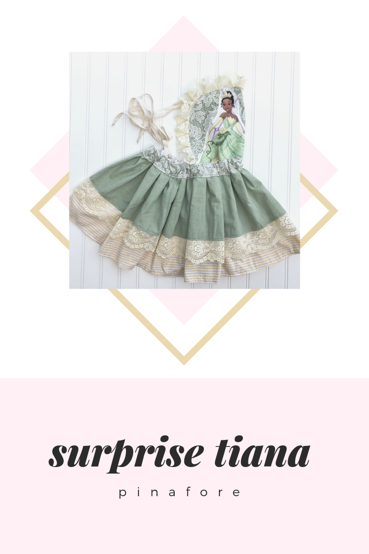 {tiana} SURPRISE pinafore // MADE TO ORDER
