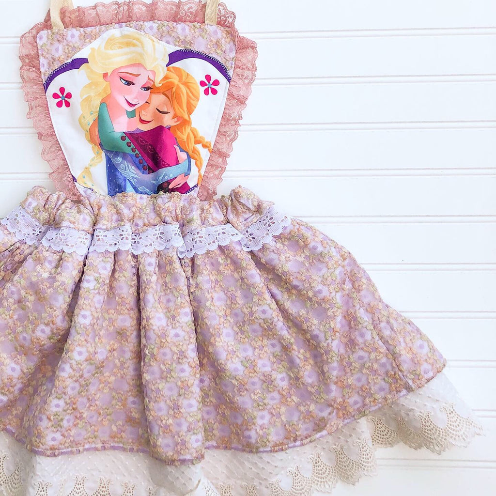{princess trio + frozen} magic dress // ready to ship // size 5T
