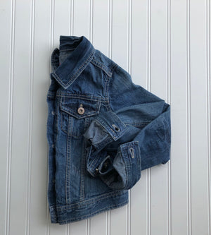 {size 7/8} rainbow denim jacket // design your own rainbow // ready to ship (1-4 days)