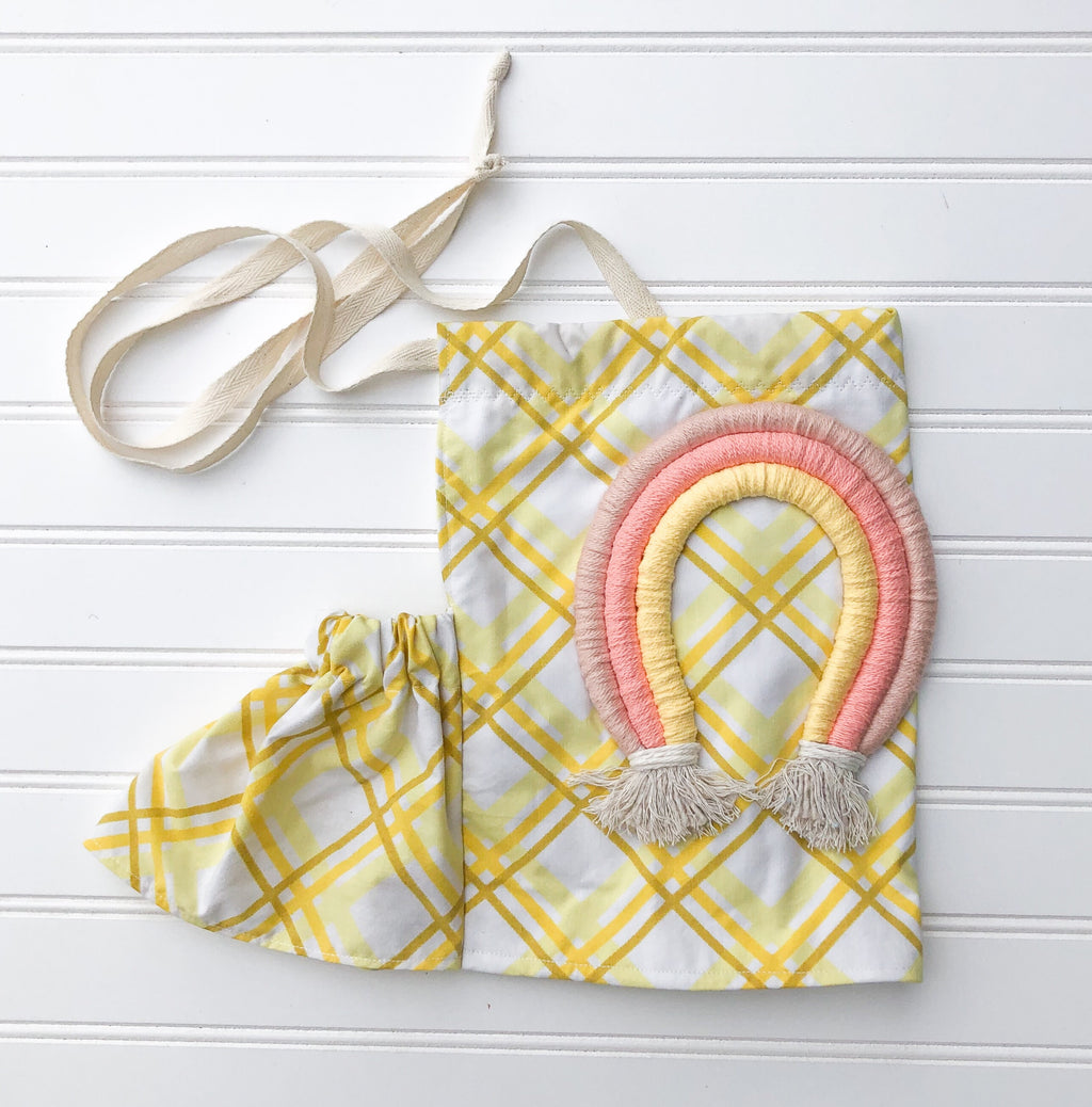 customizable rainbow halter [yellow sundae]