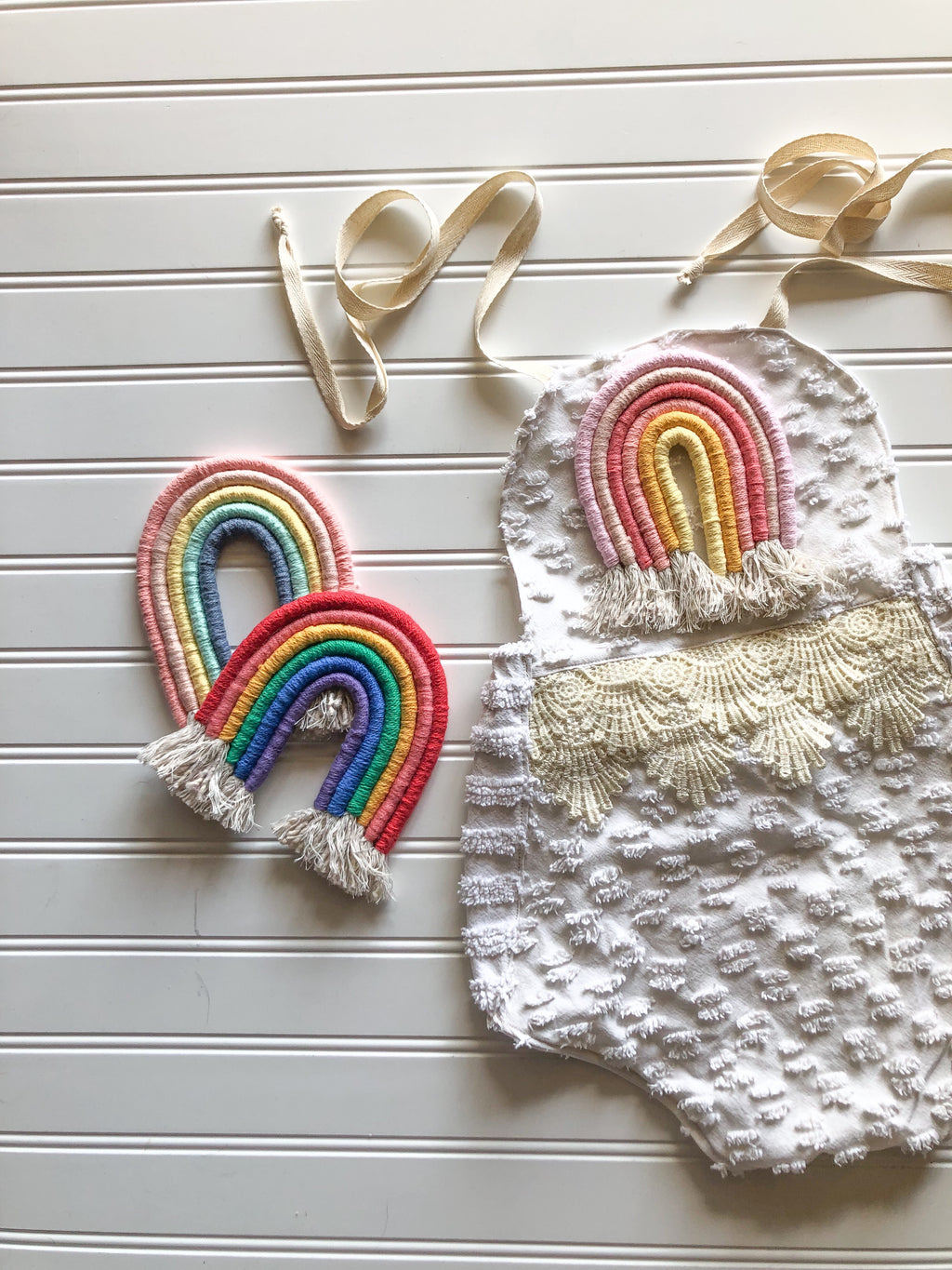 {lilian] vintage rainbow romper // made to order // 3 rainbow color-ways