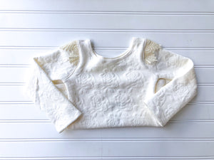 {bence] lace tee in winter white // made to order