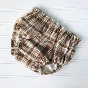 {bloomer shop} cream + brown plaid // made to order