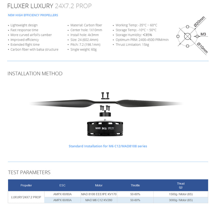 FLUXER 24×7.2IN PROP – LUXURY (CW&CCW) - Unmanned RC