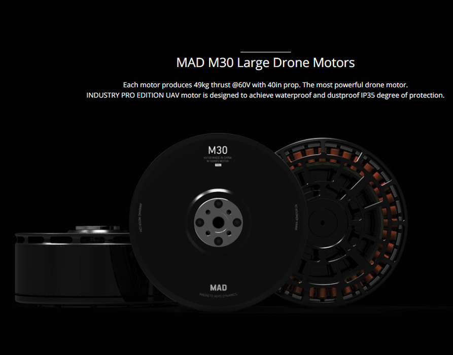 MAD M30 large drone motor Max Thurst 47KG - Unmanned RC