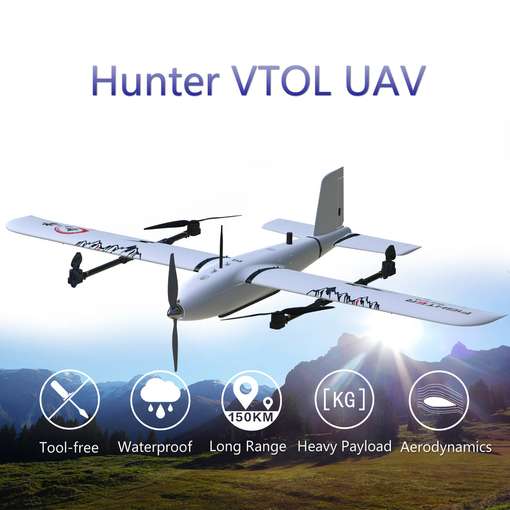 Hunter VTOL UAV Professional EPO Composite Material Mapping Platform - Unmanned RC