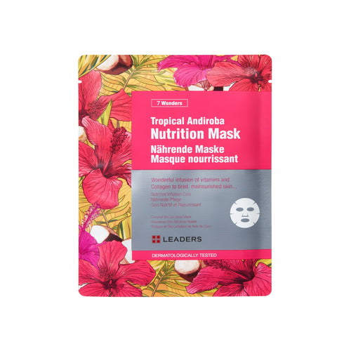 Tropical Andiroba Nutrition Mask, 7 Wonders,  Leaders Cosmetics, sheet mask, K-Beauty