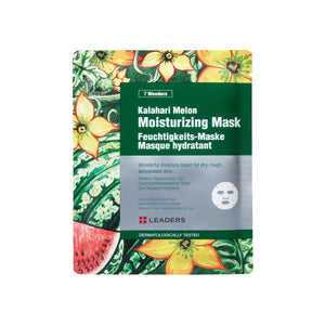 Kalahari Melon Moisturizing Mask, 7 Wonders,  Leaders Cosmetics, sheet mask, K-Beauty