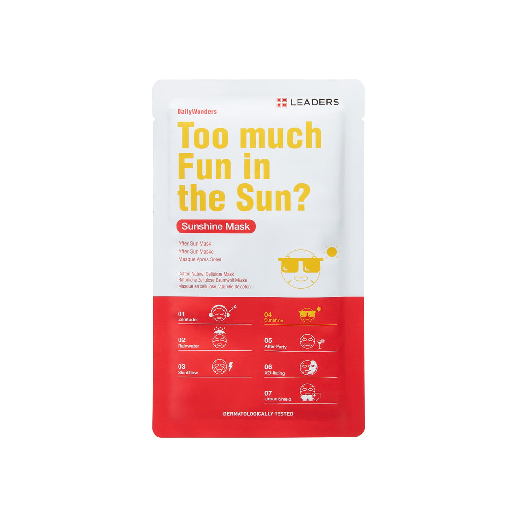 Too Much Fun In The Sun?, Daily Wonders,  Leaders Cosmetics, sheet mask, K-Beauty