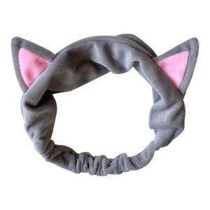 CAT EAR HEADBAND GRÅ, FININO