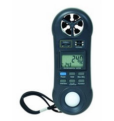 "GENERAL TOOLS Air Speed-Temperature-Humidity-Light Meter with ""K"" Port - DLAF8000"