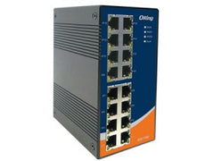 ORing Industrial 16-Port Unmanaged Ethernet switch with 16x10/100Base-T(X) IES-1160