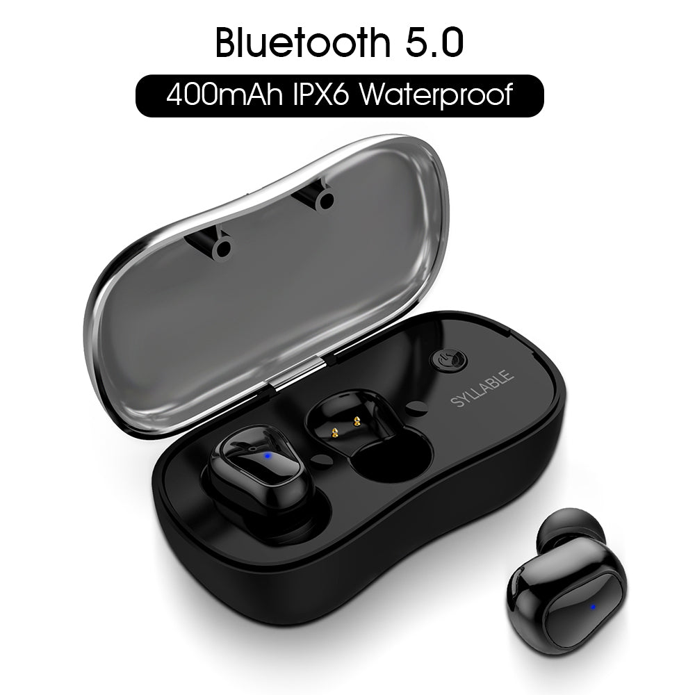 fb357d37498 Bluetooth V5.0 TWS Earphone True Wireless Stereo Earbud Waterproof SYLLABLE Bluetooth  Headset for Phone