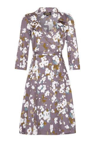 Gabrielle dress in purple Candy floral