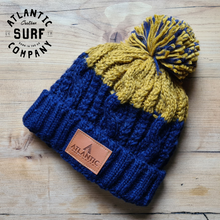 Load image into Gallery viewer, Apres Beanie - Oxford Navy/Mustard