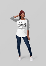 Load image into Gallery viewer, 'Caffeine & Coldwater' Girls Long Sleeved Raglan