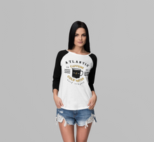 Load image into Gallery viewer, 'Caffiene & Coldwater #2' Girls Long Sleeved Raglan