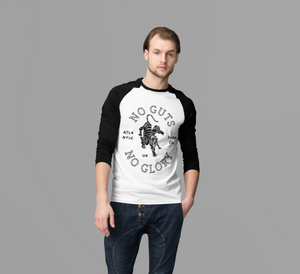 'The Grunge Tiger' Guys Long Sleeved Raglan