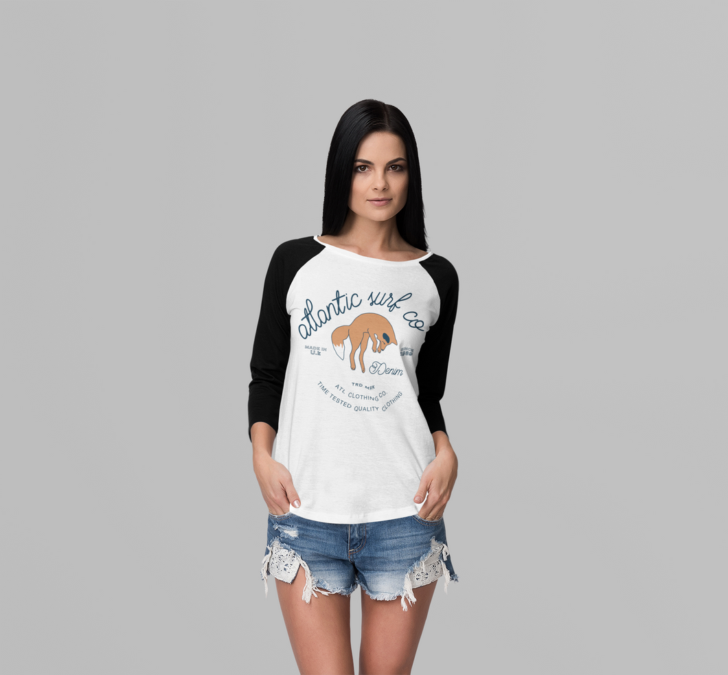 'The Fox' Girls Long Sleeved Raglan