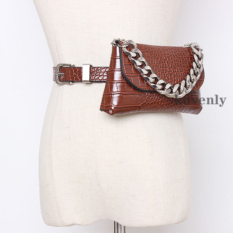Waist Pack Leather Fanny Pack Waist Belt Bags For Women 2019 Mini Shoulder Bag Female Fashion Phone Waist Bag High quality Purse