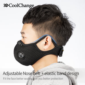 CoolChange Cycling Face Mask Activated Carbon With Filter PM2.5 Anti-Pollution Bike Sport Protection Dust Mask Anti-droplet