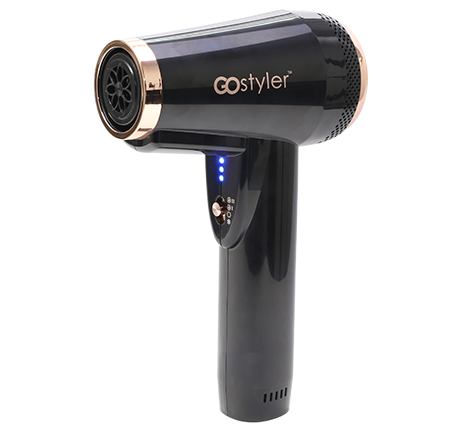 RECHARGEABLE HAIR DRYER WITH