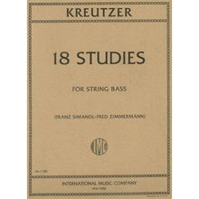 Load image into Gallery viewer, Kreutzer 18 Studies for String Bass - Quantum Bass Market