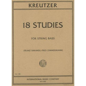 Kreutzer 18 Studies for String Bass - Quantum Bass Market
