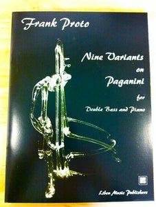 Proto, F. - Nine Variants on Paganini for Double bass and Piano - Quantum Bass Market