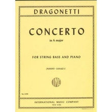 Load image into Gallery viewer, Dragonetti, D. - Concerto in A, for Double Bass (solo tuning) & Piano - Quantum Bass Market