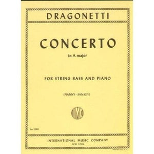 Dragonetti, D. - Concerto in A, for Double Bass (solo tuning) & Piano - Quantum Bass Market