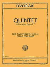 Load image into Gallery viewer, Dvorak - Quintet in G Major for 2 violins, viola, cello and double bass - Quantum Bass Market