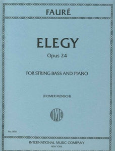 Faure' Elegy for String Bass and Piano (Homer Mensch) - Quantum Bass Market