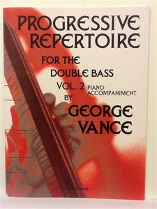 Vance, George - Progressive Repertoire Vol 2 piano accompaniment - Quantum Bass Market