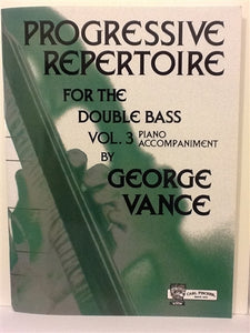 Vance, George - Progressive Repertoire Vol 3 piano accompaniment - Quantum Bass Market